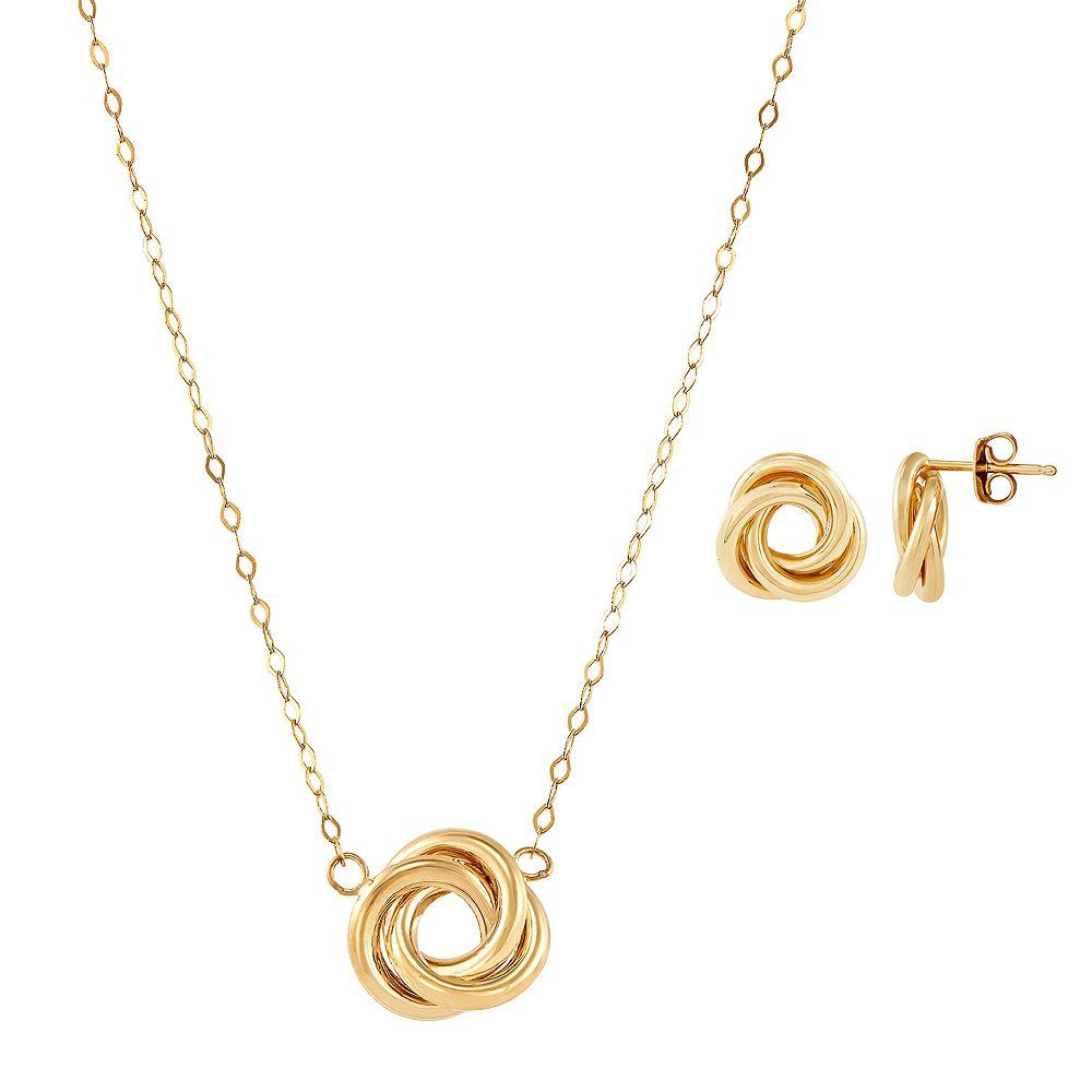 14k Gold Necklace & Earring Set