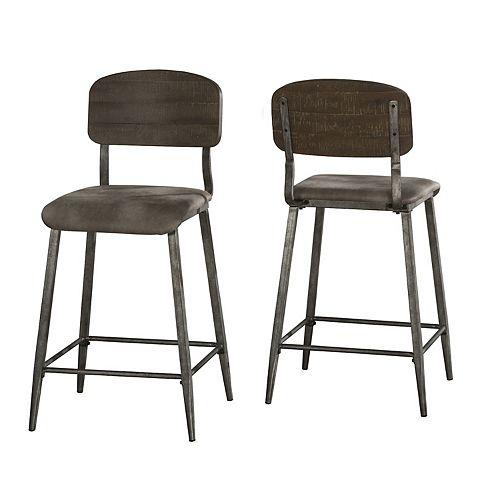 Hillsdale Furniture Adams Non-Swivel Counter Stool Set