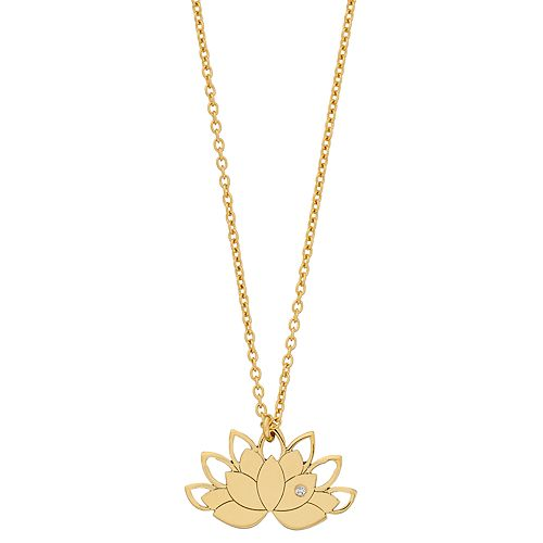 Sterling Silver Lotus Pendant Necklace