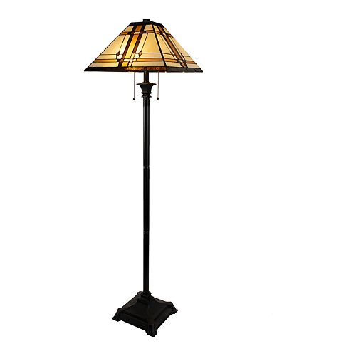 Lavish Home Tiffany Style Floor Lamp
