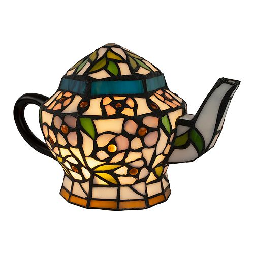 Stained Glass Teapot Table Lamp