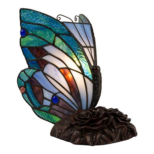 Lavish Home Tiffany Style Butterfly Lamp