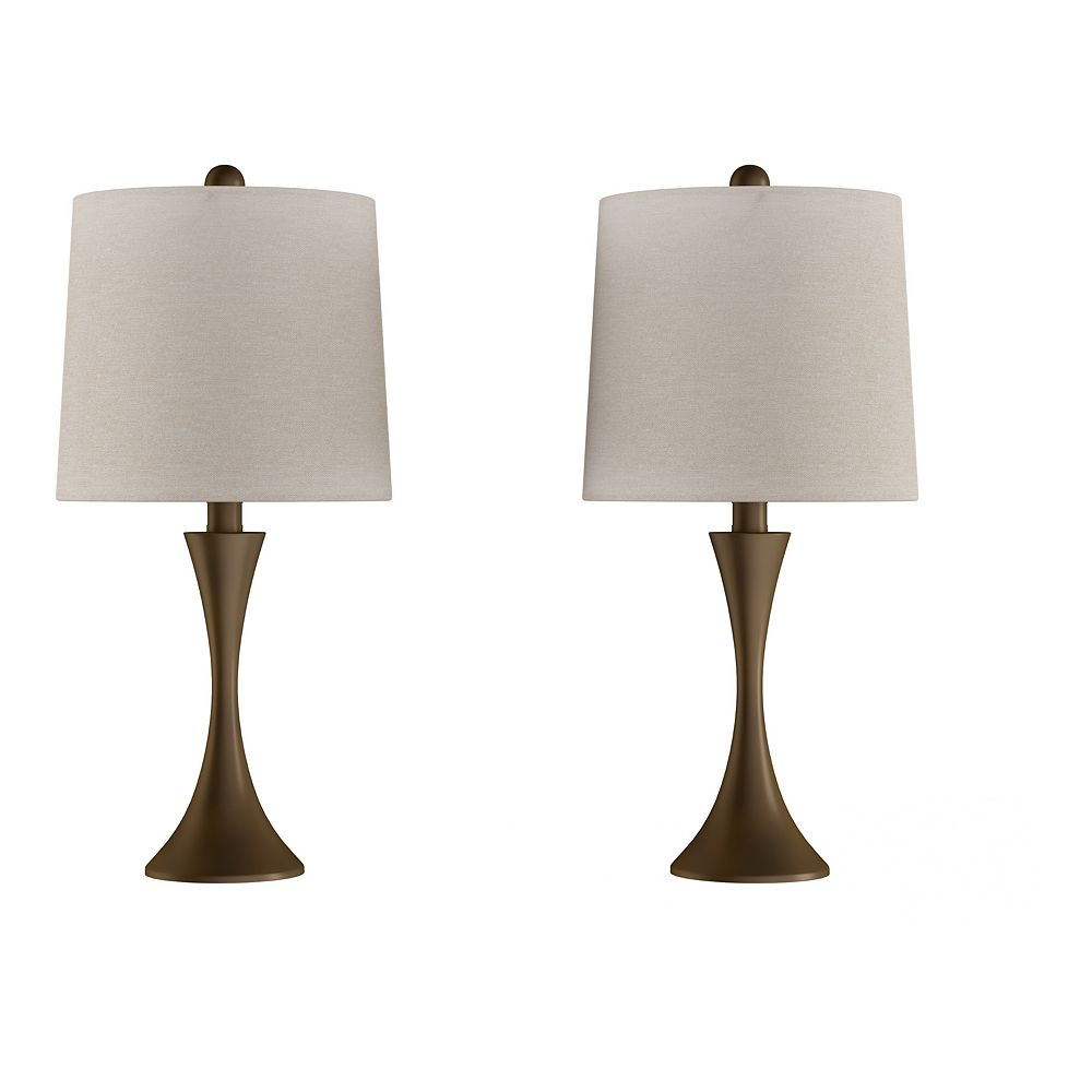 Flared Trumpet Table Lamp 2-piece Set