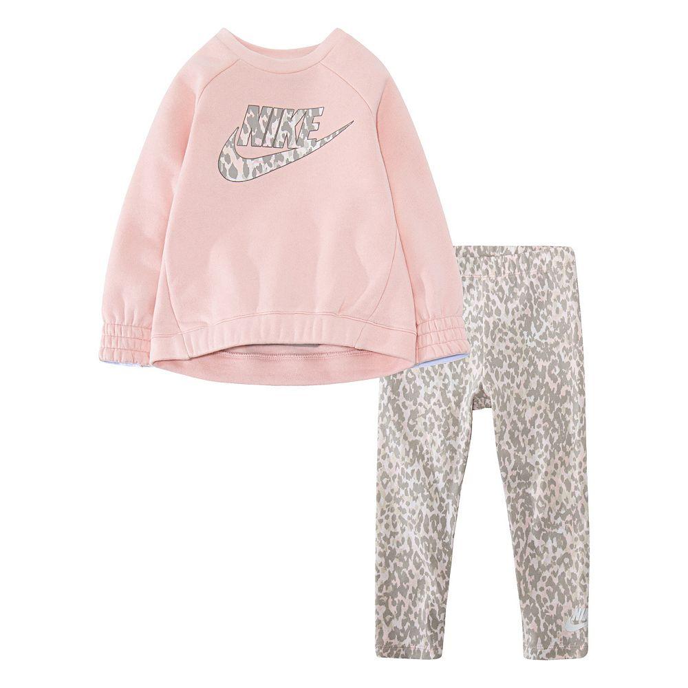 Toddler Girl Nike Leopard Print Tunic and Leggings Set