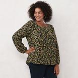 Plus Size LC Lauren Conrad Peasant Top