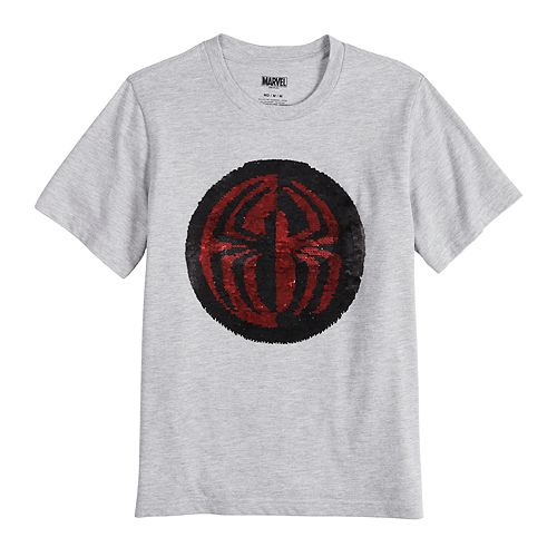 Boys 8-20 Marvel Spider-Man Flip Sequin Graphic Tee