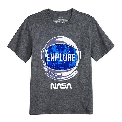 Boys 8-20 Flip Sequin NASA Graphic Tee