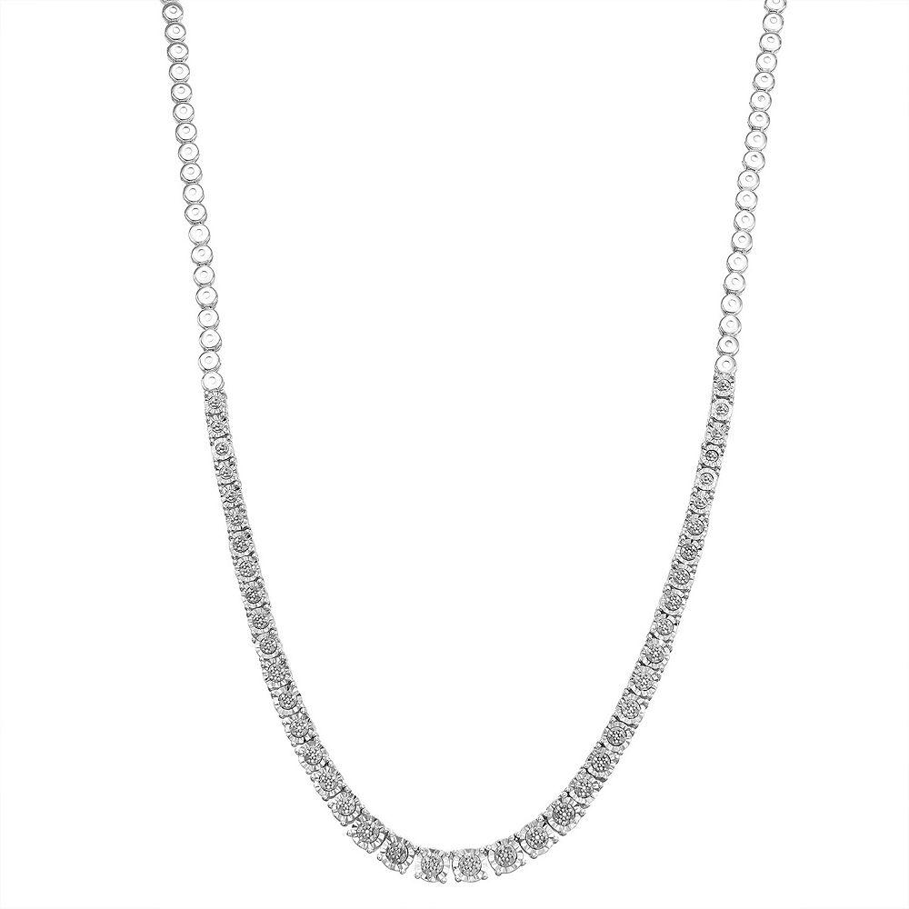 Sterling Silver 1/3 Carat T.W. Diamond Necklace