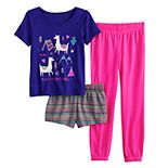 Girls 6-14 & Plus Size SO® 3-Pack Sleepover Set with Two Bottoms