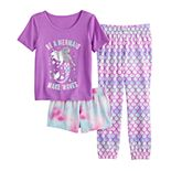 Girls 6-14 and Plus Size SO® 3-Pack Sleepover Set with Two Bottoms