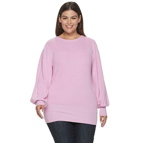 Plus Size EVRI Balloon Sleeve Sweater