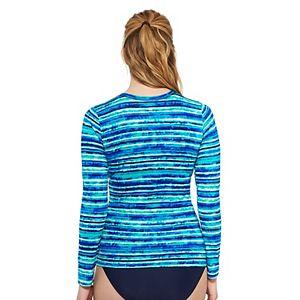 Women's Croft & Barrow® UPF 50 Long-Sleeve Swim Tee