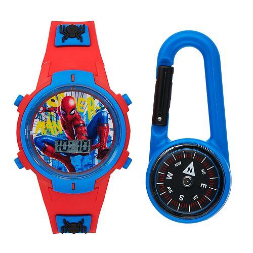 Spider-Man Kids' Digital Light-Up Watch & Compass Set