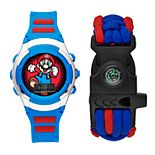 Super Mario Kids' Digital Light-Up Watch & Compass Bracelet Set