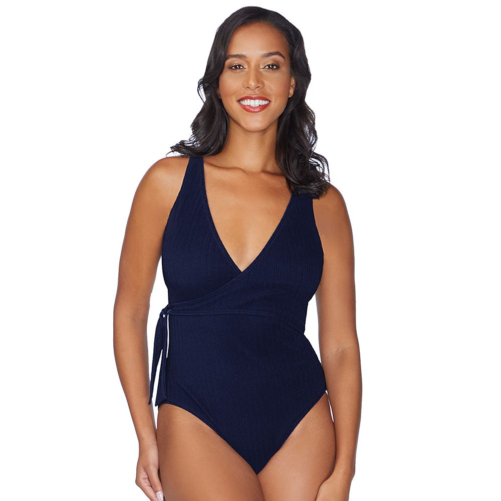 Women's Apt. 9® Faux-Wrap One Piece Swimsuit