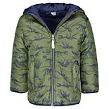 Toddler Boy Carter's Poly Reversible Printed Bubble Jacket