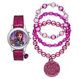 "Disney's ""Frozen 2"" Anna Kids' Digital Light-Up Watch & Stretch Bracelet Set"
