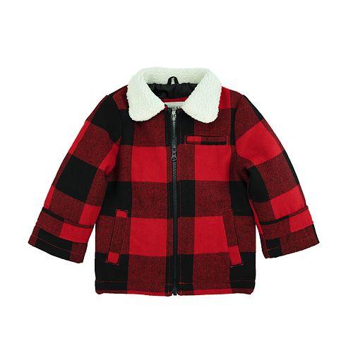 Toddler Boy Carter's Faux Wool Buffalo Check Sherpa