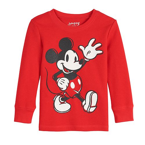 Toddler Boy Jumping Beans® Mickey Mouse Thermal Crewneck Tee