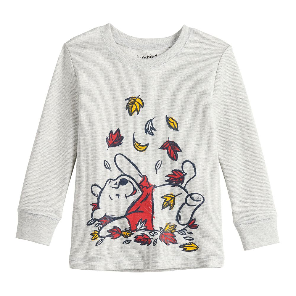 Disney's Winnie The Pooh Toddler Boy Autumn Leaves Thermal Graphic Tee by Jumping Beans®