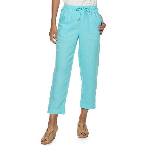 Women's Cathy Daniels Pull-On Button-Hem Ankle Pants