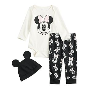 Disney's Minnie Mouse Baby Girl Graphic Bodysuit, Pants & Hat Set by Jumping Beans®