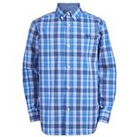 Boys 8-20 Chaps Stretch Denim Inspired Plaid Shirt