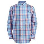 Boys 8-20 Chaps Stretch Denim Inspired Plaid Shirt