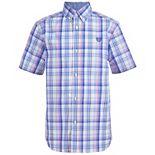 Boys 4-20 Chaps Dot Print On Stretch Poplin Shirt