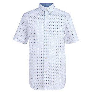 Boys 8-20 Chaps Dot Print On Stretch Poplin Shirt