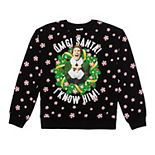 "Juniors' Elf ""OMG It's Santa!"" Graphic Holiday Pullover"
