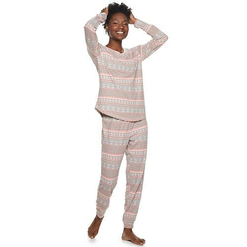 Women's Hanes Hacci Thermal Pajama Set