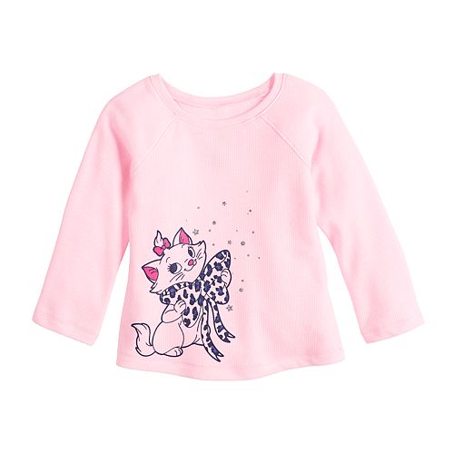 Disney's The Aristocats Marie Baby Girl Raglan A-Line Thermal by Jumping Beans®