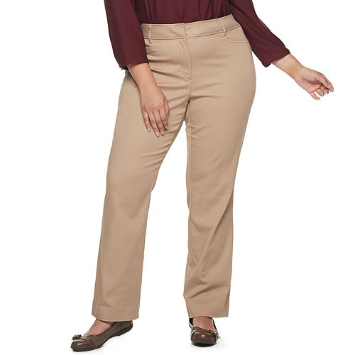 Plus Size Croft & Barrow® Effortless Stretch Trouser