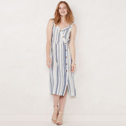 Petite LC Lauren Conrad Midi Dress