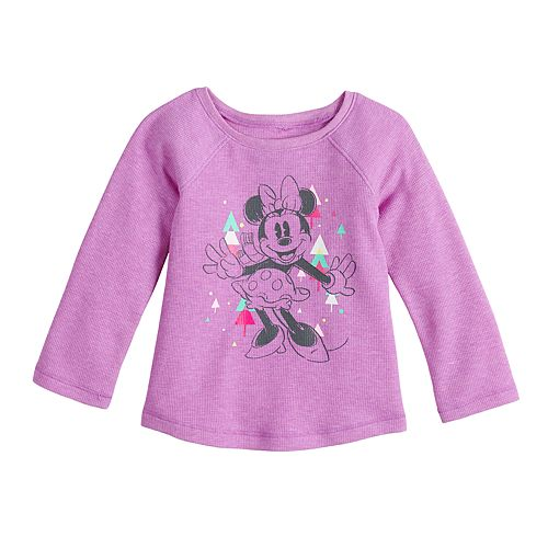 Disney's Minnie Mouse Baby Girl Raglan A-Line Thermal by Jumping Beans®