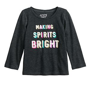 Baby Girl Jumping Beans® Long Sleeve Holiday Graphic Tee