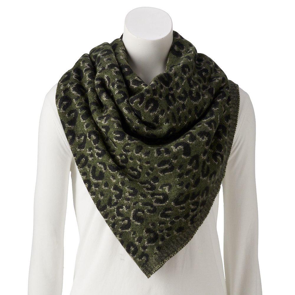 Women's Leopard Print Blanket Triangle Scarf