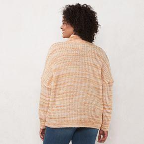 Plus Size LC Lauren Conrad Knit Pullover Sweater