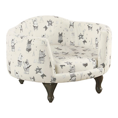 HomePop Pet Bed - French Bulldog Print