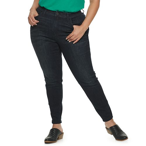 Plus Size EVRI Fit Solution Skinny Jeans