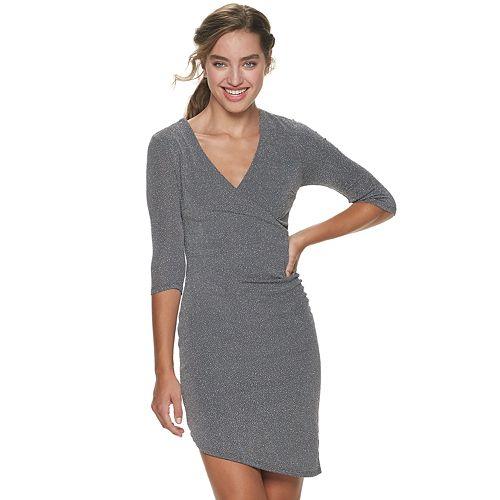 Juniors' Speechless Fitted 3/4-Sleeve Dress