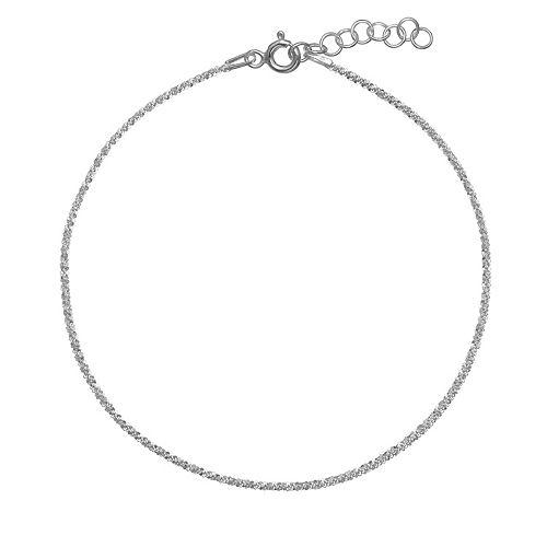 PRIMROSE Sterling Silver Sparkle Anklet