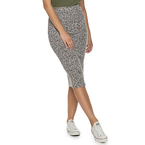 Juniors' SO® Fitted Midi Hacci Skirt