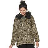 Juniors' Jou Jou Faux Fur Hooded Anorak Jacket