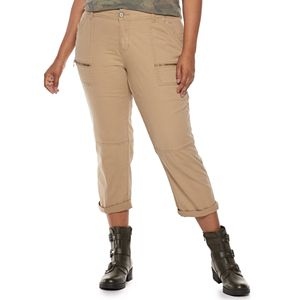 Juniors' Unionbay Stretch Twill Utility Crop Pants