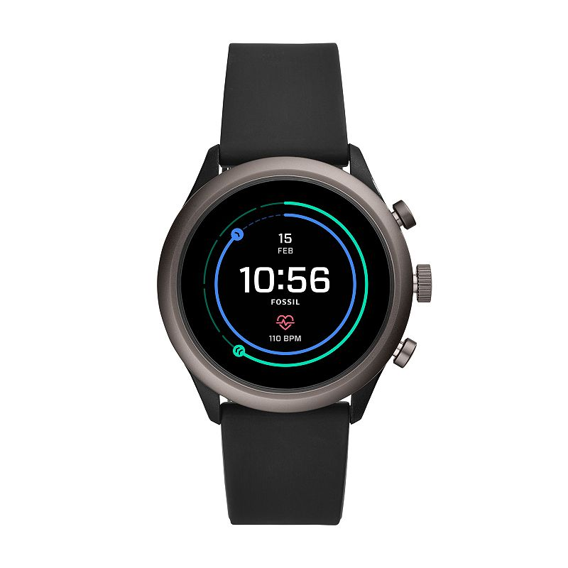 Fossil Sport Smart Watch 43mm Silicone Band, Size: Large, Black
