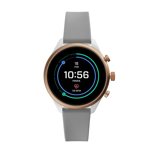 Fossil Gen 4 Silicone Band Smart Watch - FTW6025
