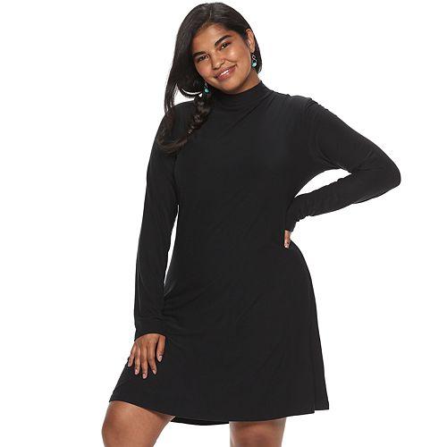 Juniors' Plus Size Mudd® Square Neck Bodycon Dress