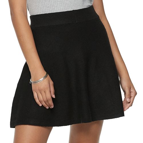 Juniors' Candie's Fit & Flare Sweater Skirt